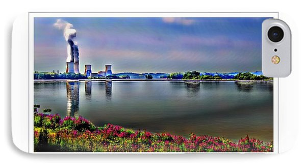 Glowing 3 Mile Island IPhone Case by Kathy Churchman