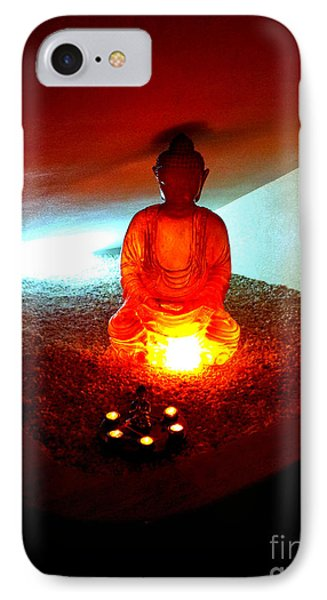 Glowing Buddha IPhone Case by Linda Prewer