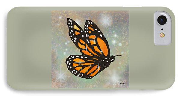 Glowing Butterfly Phone Case by Audra D Lemke
