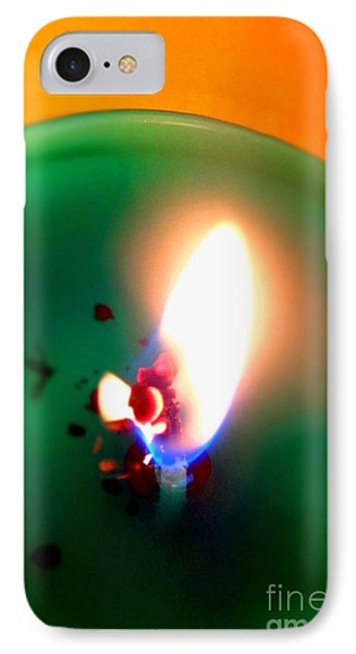 Glowing Candle Wick IPhone Case by Justin Moore