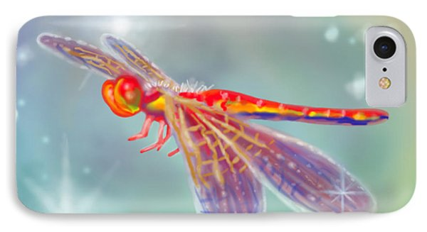 Glowing Dragonfly Phone Case by Audra D Lemke