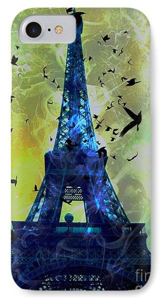 Glowing Eiffel Tower IPhone Case