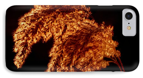 IPhone Case featuring the digital art Glowing Embers by R Thomas Brass