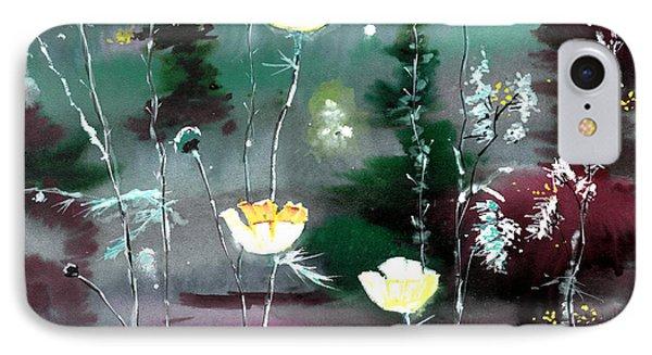 Glowing Flowers Phone Case by Anil Nene