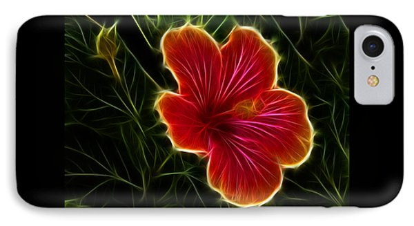 Glowing Hibiscus IPhone Case by Shane Bechler