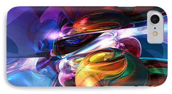 Glowing Life Abstract IPhone Case