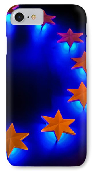 IPhone Case featuring the photograph Glowing Stars Of Freedom by Dawn Romine