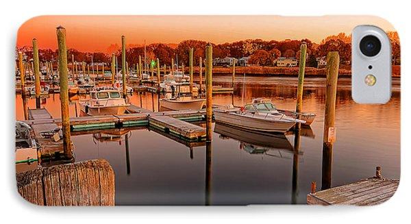 Glowing Start - Rhode Island Marina Sunset Warwick Marina  IPhone Case by Lourry Legarde