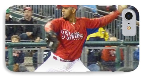 IPhone Case featuring the photograph Go Phillies by Jeanette Oberholtzer