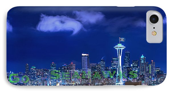 Go Seahawks IPhone Case by Lori Grimmett