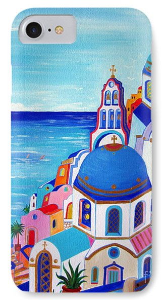 go to Santorini now IPhone Case