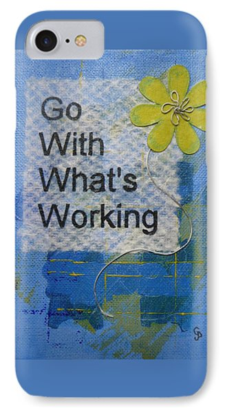 Go With What's Working - 2 IPhone Case by Gillian Pearce