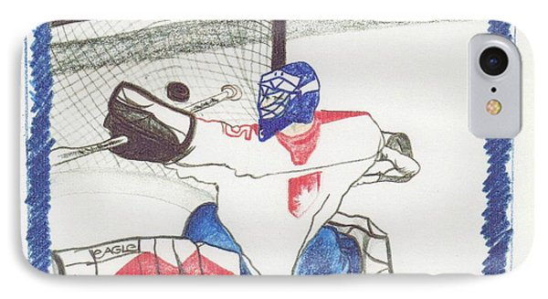 IPhone Case featuring the drawing Goalie By Jrr by First Star Art