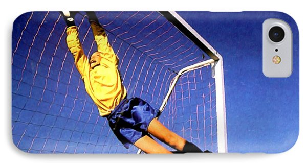 Goalkeeper Catches The Ball Phone Case by Lanjee Chee