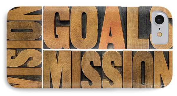 Goals Vision And Mission IPhone Case by Marek Uliasz