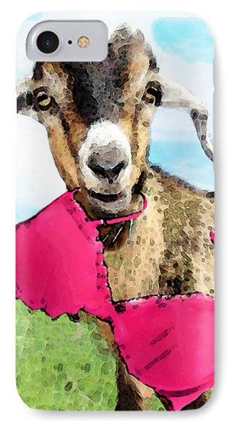 Goat Art - Oh You're Home Phone Case by Sharon Cummings