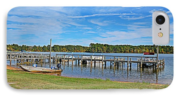 IPhone Case featuring the photograph Goat Island Dock by Linda Brown
