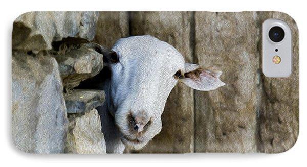 Goat Looking Oleo IPhone Case