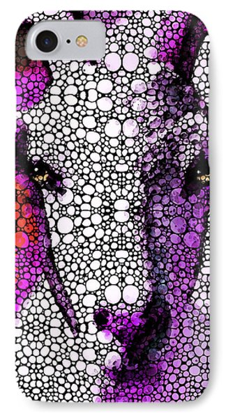 Goat - Pinky - Stone Rock'd Art By Sharon Cummings IPhone 7 Case by Sharon Cummings
