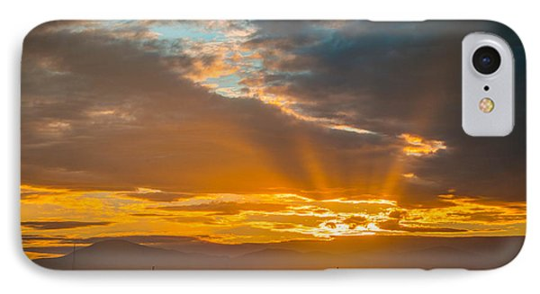 God Beams And Sunrise Phone Case by Connie Cooper-Edwards
