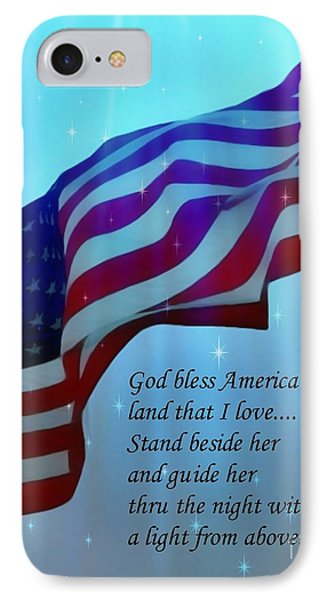 God Bless America Phone Case by Barbara Chichester
