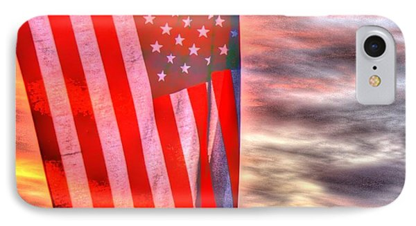 God Bless America Over Puget Sound IPhone Case