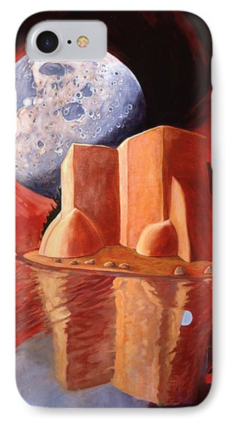 IPhone Case featuring the painting God Is In The Moon by Art James West