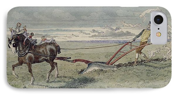 God Speed The Plough IPhone Case by Charles Altamont Doyle