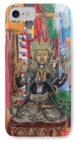 Buddha Goddess Phone Case by Chrissey Dittus