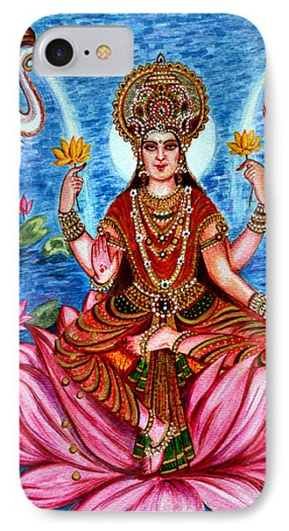 IPhone Case featuring the painting Goddess Lakshmi by Harsh Malik