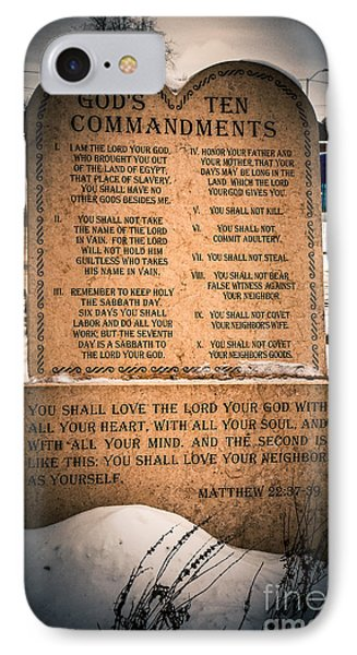 God's Ten Commandments IPhone Case