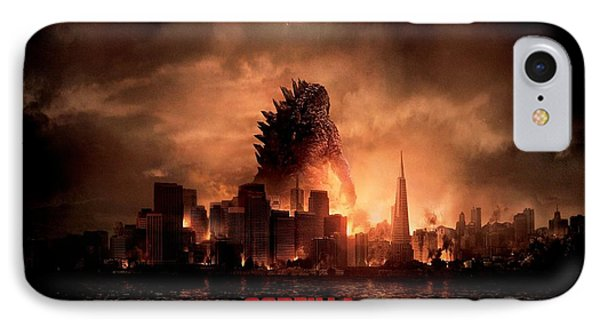 Godzilla 2014 IPhone Case by Movie Poster Prints