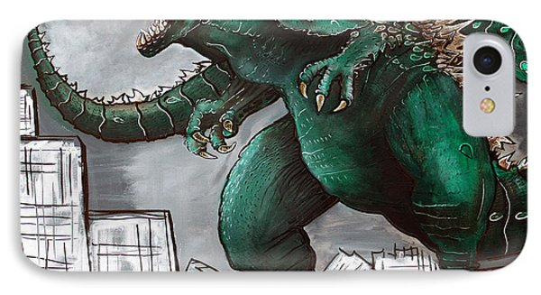 Godzilla Gojira IPhone Case by Laura Barbosa
