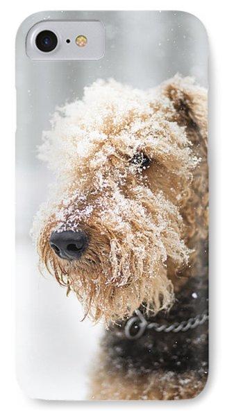 Dog's Portrait Under The Snow IPhone Case