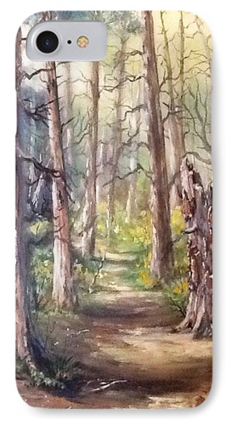 IPhone Case featuring the painting Going For A Walk by Megan Walsh