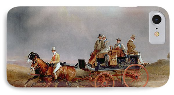 Going Shooting A Postillion And Pair With A Game Cart Phone Case by Charles Cooper Henderson