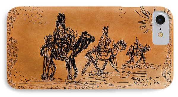 Going To See The King - Sketch Phone Case by Glenn McCarthy Art and Photography