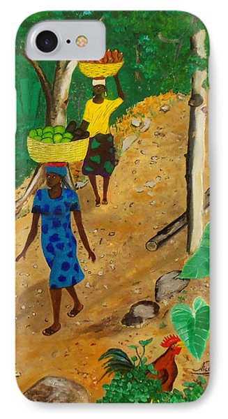 Going To The Marketplace 3 IPhone Case by Nicole Jean-Louis