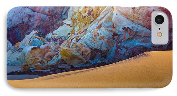 Gold And Blue IPhone Case by Edgar Laureano