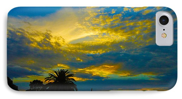 Gold And Blue Sunset IPhone Case