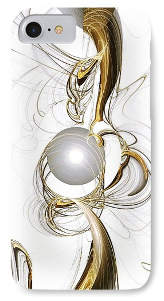 Gold And Pearl IPhone Case