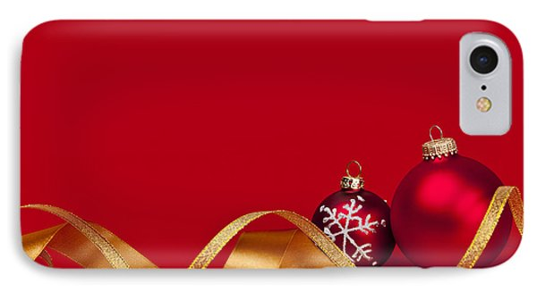 Gold And Red Christmas Decorations IPhone Case
