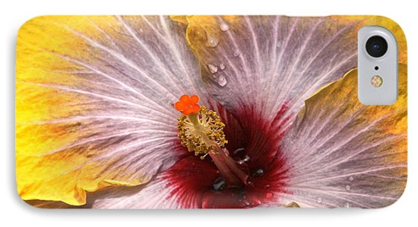 Gold And Silver And Ruby Hibiscus Close Up Phone Case by Byron Varvarigos
