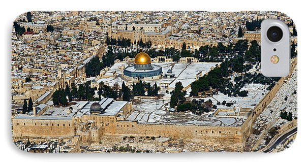 Gold And White In Jerusalem. IPhone Case by Arik Baltinester