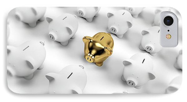 Gold And White Piggy Banks IPhone Case
