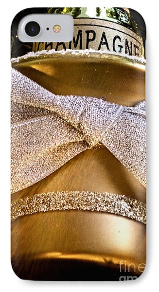 Gold Champagne Ornament IPhone Case by Birgit Tyrrell