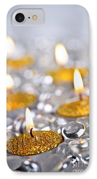 Gold Christmas Candles IPhone Case by Elena Elisseeva