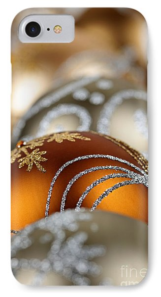Gold Christmas Ornaments IPhone Case by Elena Elisseeva