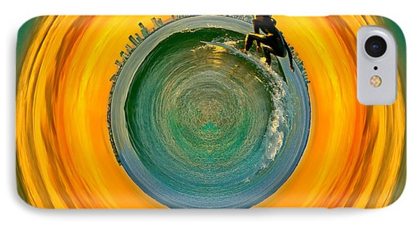 Gold Coast Surfer Circagraph IPhone Case by Az Jackson