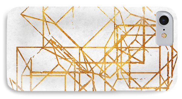 Gold Cubed II IPhone Case